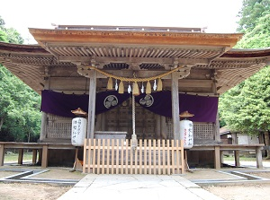 Main shrine of Tottori Toshogu
