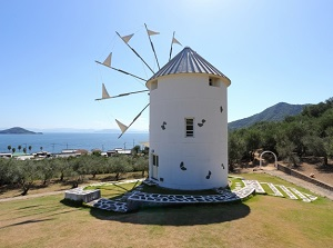 Greek wind mill in Olive Park