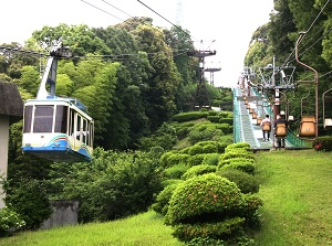 Ropeway and lift to Matsuyama Castle