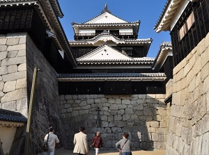 Approach to the castle tower in Matsuyama Castle
