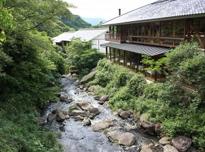 Hotel in a valley in Ureshino Onsen