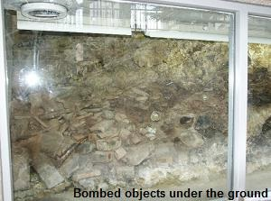 Bombed objects under the ground