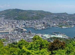 View of Nagasaki Port from Mount Inasa