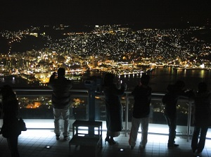 Night view from the Observatory of Mount Inasa